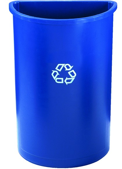 Rubbermaid Half Round Recycling Container 21 Gallon