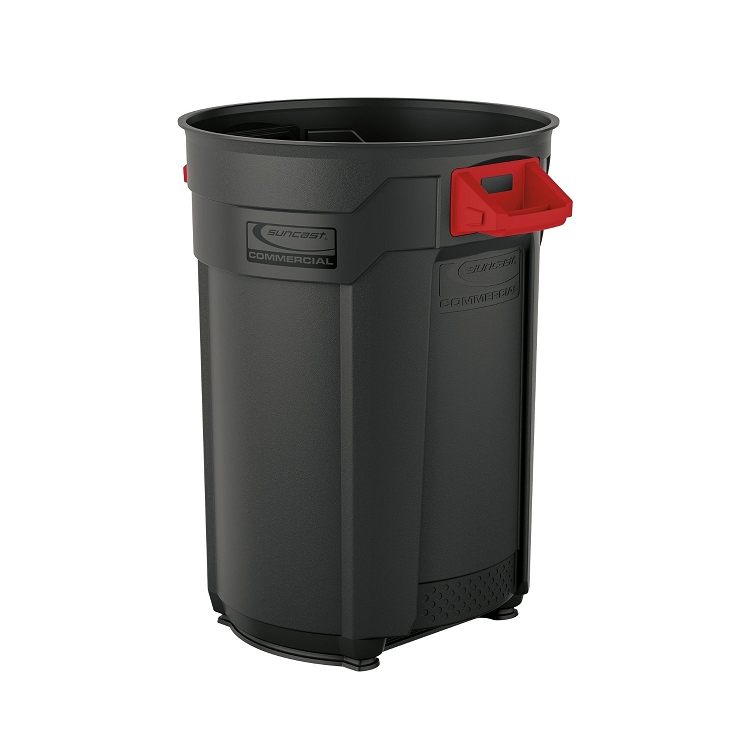utility trash can 55 gallon recycle away. Black Bedroom Furniture Sets. Home Design Ideas