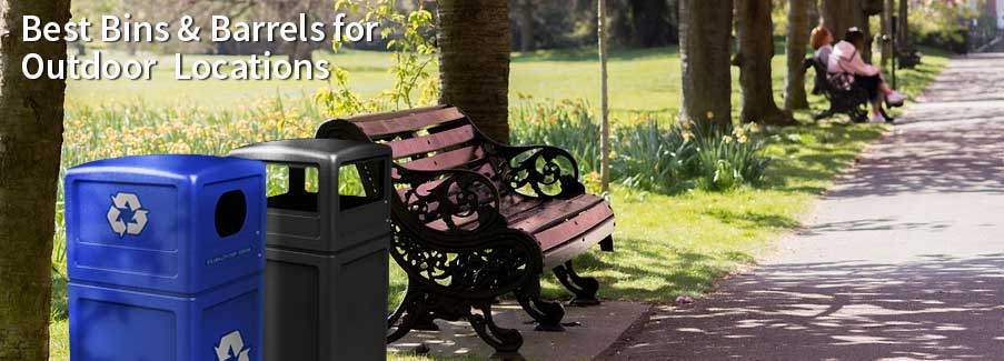 Choosing the best bins & barrels for your outdoor space.