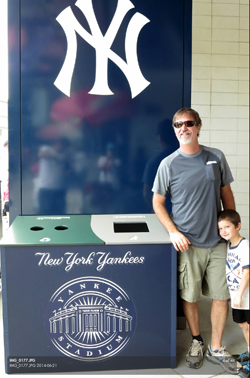 Recycle Away Custom Recycling Containers Yankee Stadium
