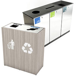 Convention Center Recycling Bins