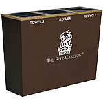 The Ritz-Carlton chose Metro Recycling Containers to match their decor