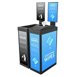 ErgoCan Value Wipe & Waste Station with Signframes
