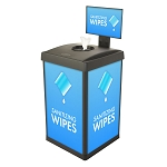 ErgoCan Square Value Wipe Dispenser with Signframe