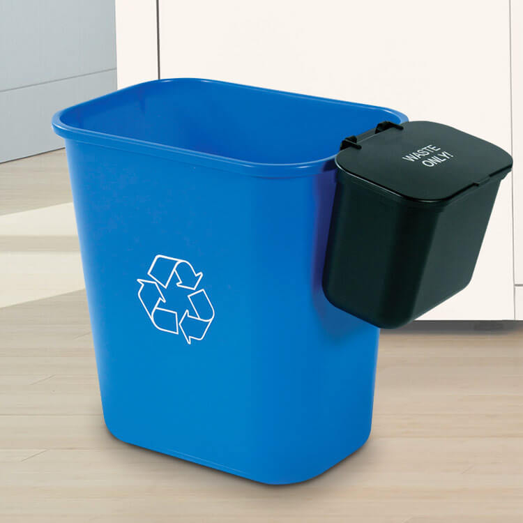 28 Quart Recycling Basket With Hanging Waste Basket And Optional Lid