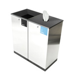 Edge Waste & Wipe Dispenser Station
