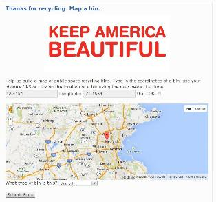 Dr Pepper Snapple KAB - Map of locations available to recycle in the us