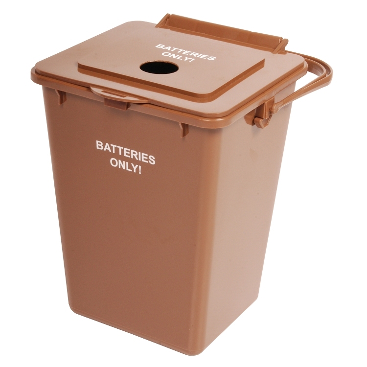 Battery Recycling Bin p 180 additionally Large 2 Shelf Utility Cart With 5 TPR Casters p 2351 also Outdoor in addition Laundry H er moreover Transit Litter Recycling Receptacle. on large outdoor trash cans