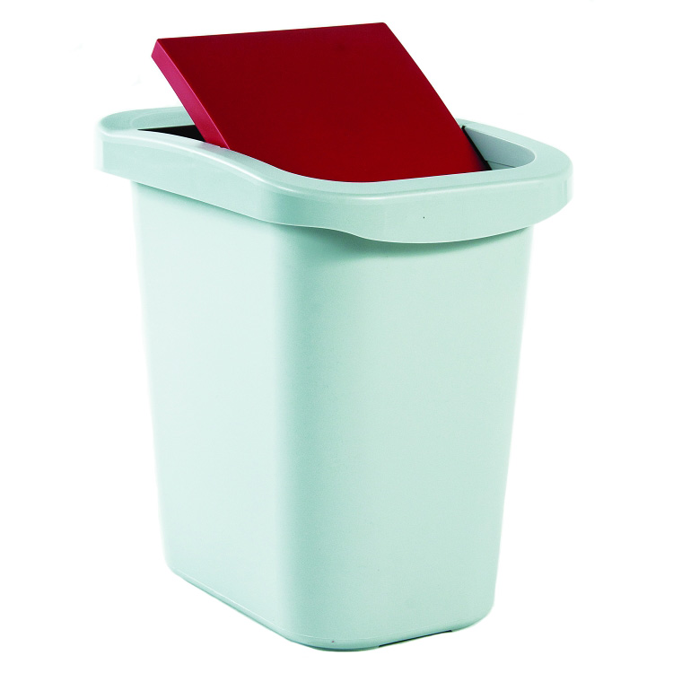 10 gallon deskside recycling container with many lid configu