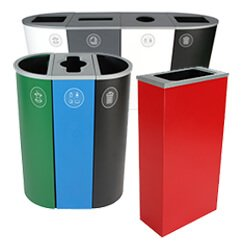 Awesome Wood Finish Collection; The Spectrum Collection The Spectrum Collection;  Deskside Recycling Bins