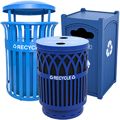 Downtown Recycling Bins