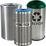 Stainless Steel Recycling Bins