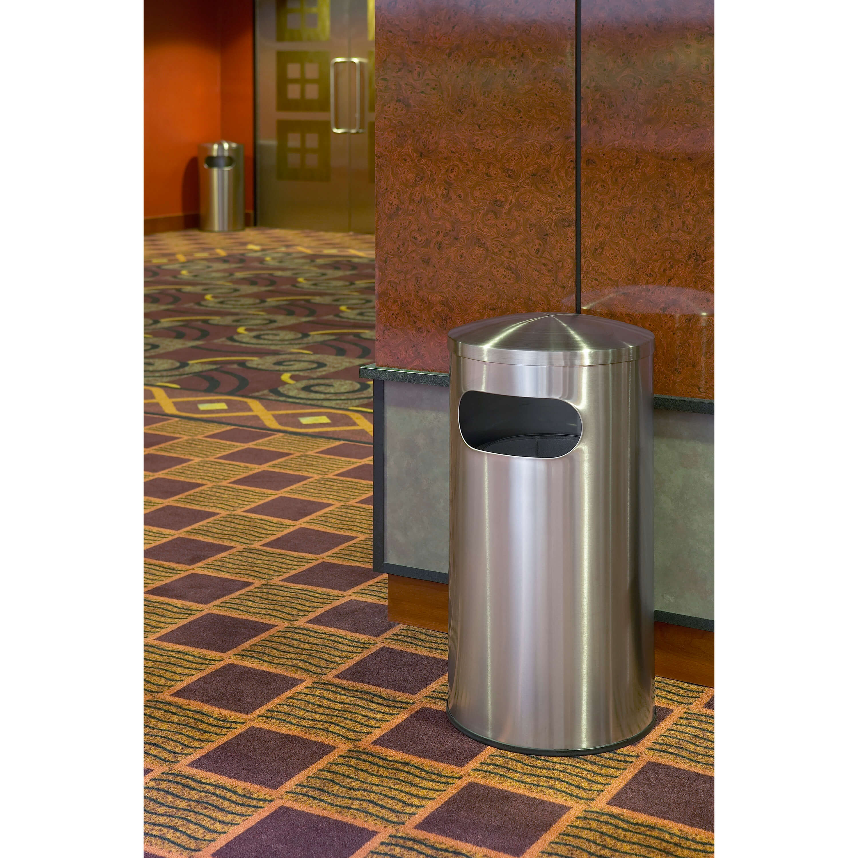 14e99b5dfeb Allure 15 Gallon Stainless Steel Garbage Can