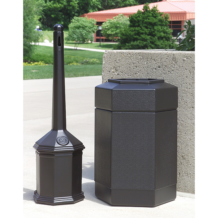 Site Saver Combo Cigarette Butt Receptacle Amp Trash Can