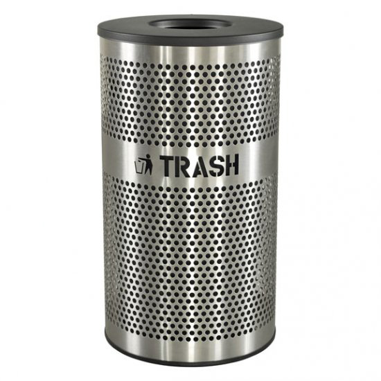 The Venue 33 Gallon Brushed Stainless Steel Waste