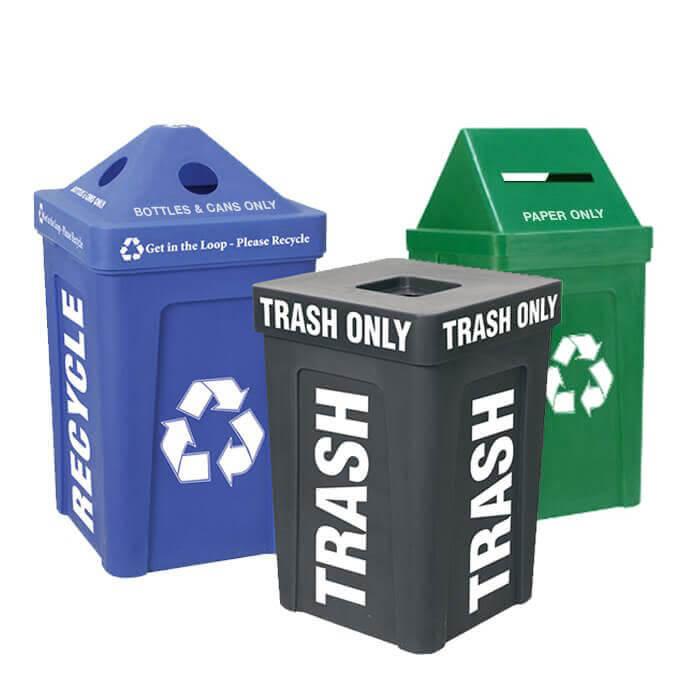 Recycle Bin I Triple Station Custom
