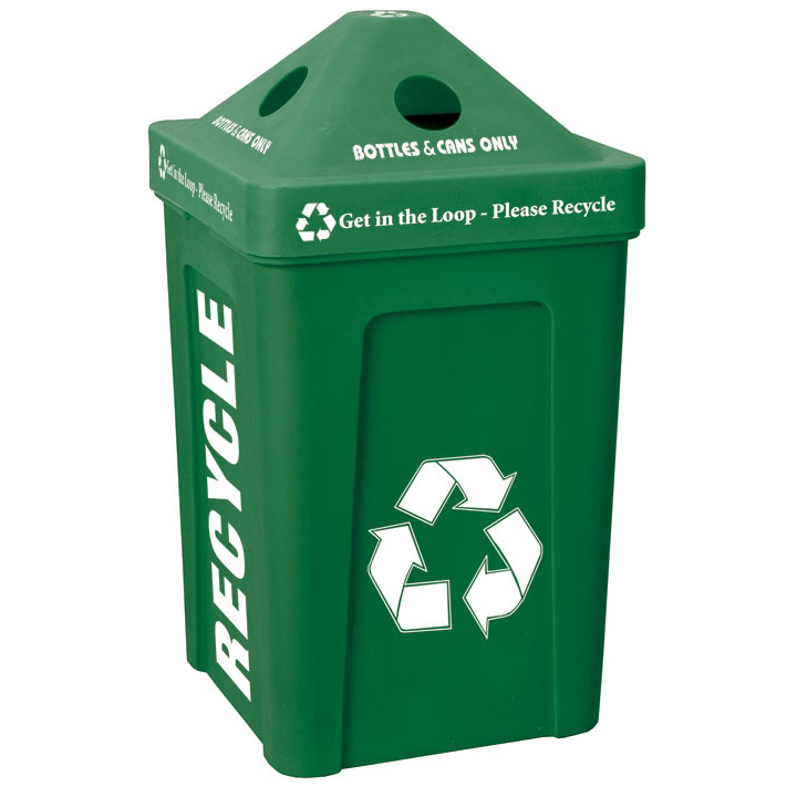48-Gallon Recycle Bin I Outdoor Station | Best Seller | Recycle Away