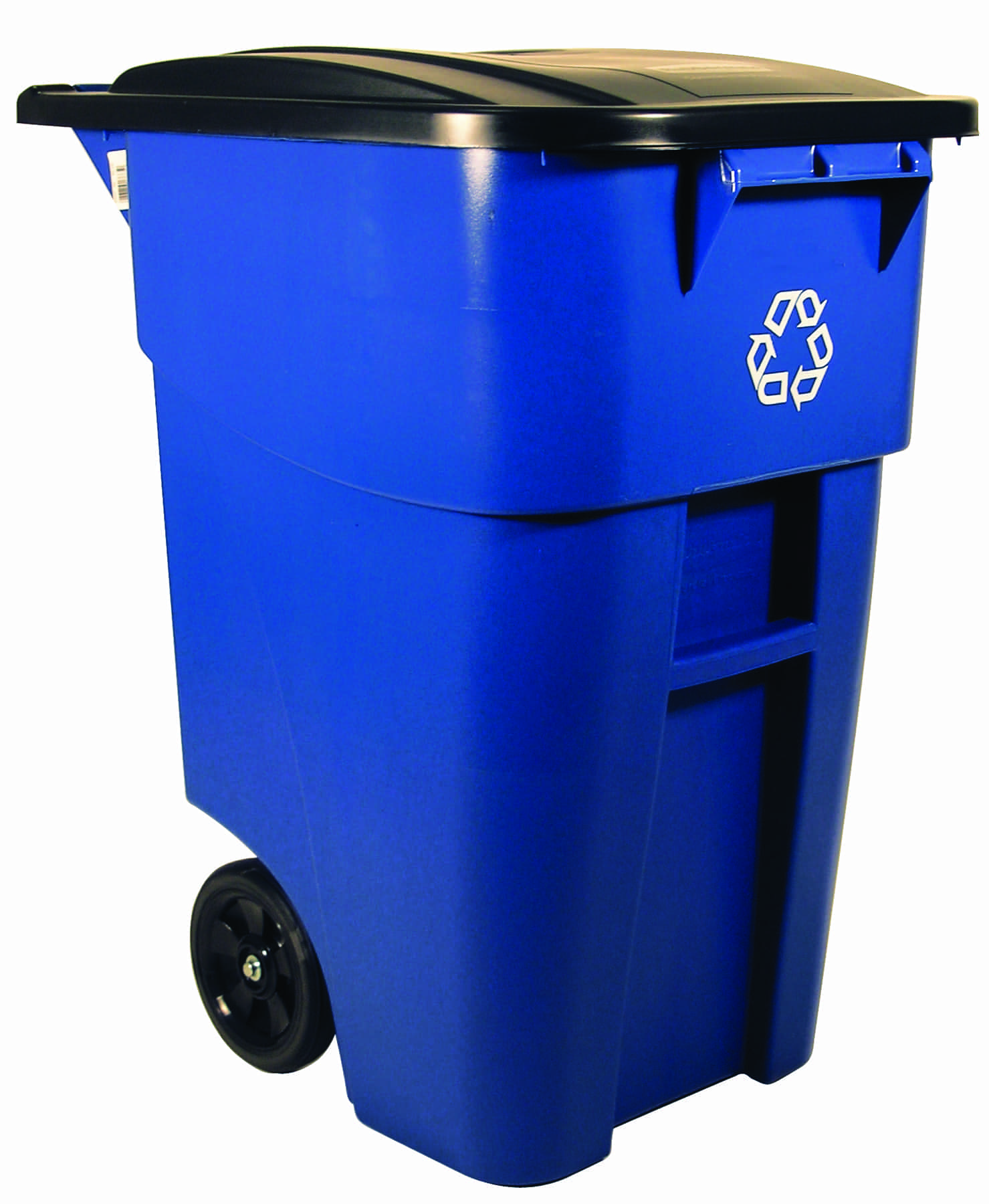 50 gallon brute recycling rollout container with lid for sale 9w27 73 recycle away. Black Bedroom Furniture Sets. Home Design Ideas
