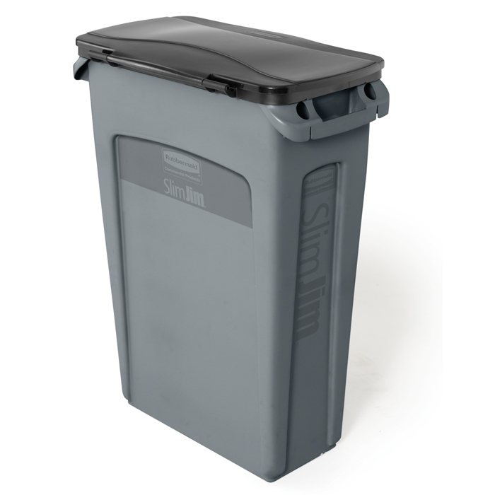Rubbermaid Slim Jim Waste Container 23 Gallon Recycle Away