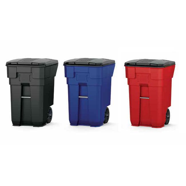 65 Gallon Plastic Wheeled Trash Can Recycle Away
