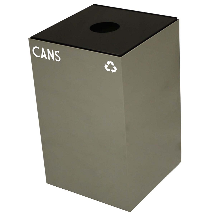 Witt Industries 24GC01 SC Steel 24 Gallon Geo Cube Recycling Container Round