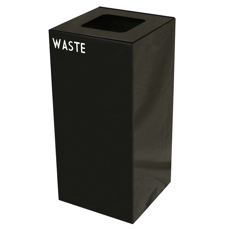 Witt Industries 28GC04 SL GeoCube Recycling Receptacle with Combination