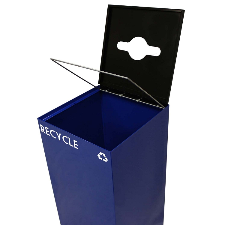 Witt Industries 36GC01 CB GeoCube Recycling Receptacle with Round Opening