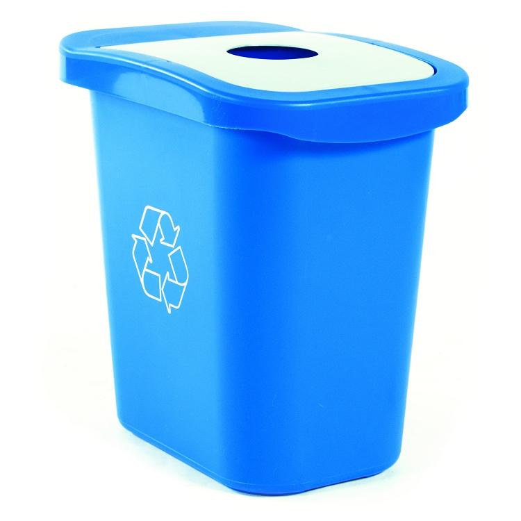 7 gallon deskside recycling waste bin buy online recycle away. Black Bedroom Furniture Sets. Home Design Ideas