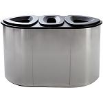 Boka Triple Stainless Steel Recycling Container