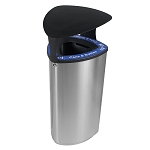 Boka Single Stainless Steel Recycling Container with Canopy