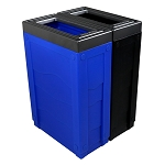 Evolve Two-Stream Duo-color Cube Slim Recycling Station