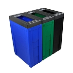 Evolve Full-Color Three-Stream Cube Slim Recycling Station