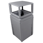 Evolve 50-Gallon Waste Cube with Canopy in Gray