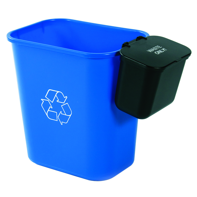 28 Quart Recycling Basket With Hanging Waste And Optional Lid