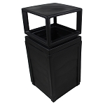 Evolve 50-Gallon Waste Cube with Canopy in Black
