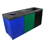 Evolve Three-Stream Multicolor Cube Recycling Station