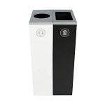 Spectrum Two-Stream Double Slim Cube Recycling Station - Custom
