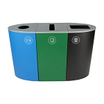 Spectrum 3-Stream Recycling Station | Blue-Green-Black