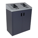 Summit Gray Double-Stream Front Access Bin w/Sloped Lid
