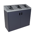 Summit Gray Triple-Stream Front Access Bin w/Sloped Lid