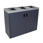 Summit Gray Triple-Stream Front Access Bin w/Flat Lid
