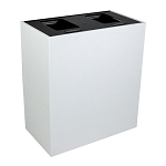 Summit White Double-Stream Top-Access Bin w/Hinged Lid