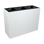 Summit White Triple-Stream Top-Access Bin w/Hinged Lid