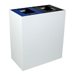 Summit White Double-Stream Top-Access Bin w/Multi-Hinged Lid