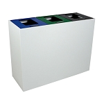 Summit White Triple-Stream Top-Access Bin w/Multi-Hinged Lid