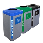 The Octo Indoor Three-Stream Recycling Station