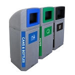 The Octo Outdoor Three-Stream Recycling Station