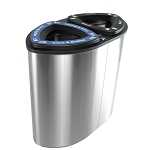 Boka Double Stainless Steel Recycling Container