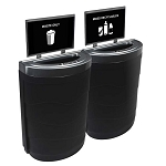 Evolve Two-Stream Ellipse Slim Recycling Station with Signframes