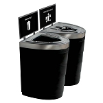 Evolve Two-Stream Double Ellipse Recycling Station with Signframes